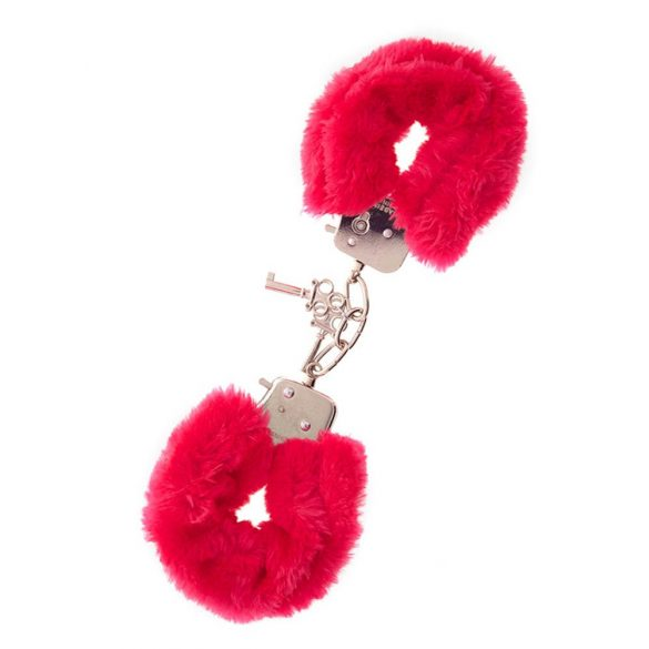 Metal Handcuff With Plush Red