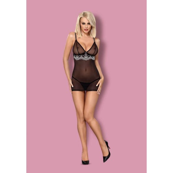 840-CHE-1 chemise & thong  S/M