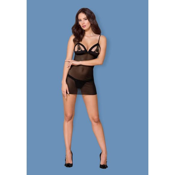 865-CHE-1 chemise & thong  S/M