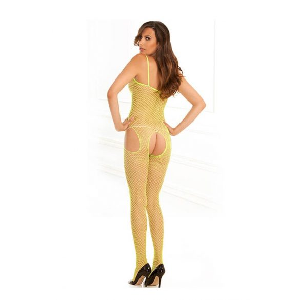 Net Suspender Bodystock Lime